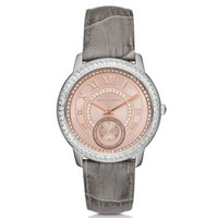 Madelyn Pavé Two-Tone and Leather Watch | Michael Kors