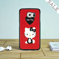 Hello Kitty Red Samsung Galaxy S6 Edge Plus Case