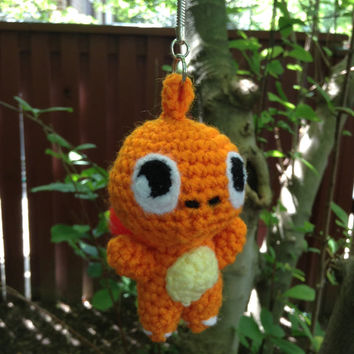 Pokemon Inspired: Chibi Charmander plushie/keychain (in Amigurumi style)! Made to Order!