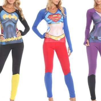 Batman, Catwoman, or Superman Undergirl Anatomical PJ Sets. Free Returns.