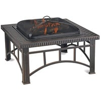 Shop Blue Rhino 36-in W Black Steel Wood-Burning Fire Pit at Lowes.com