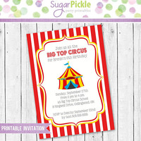 Circus Birthday Invitation, Circus Invitation, Circus Party, Circus party Invitation, Circus Printable invitation, Circus Party Decorations