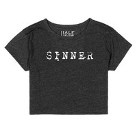 Sinner-Female Heather Onyx T-Shirt