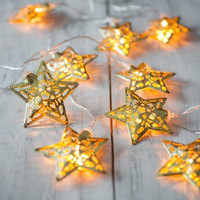Golden Star Battery-Operated LED Fairy Lights
