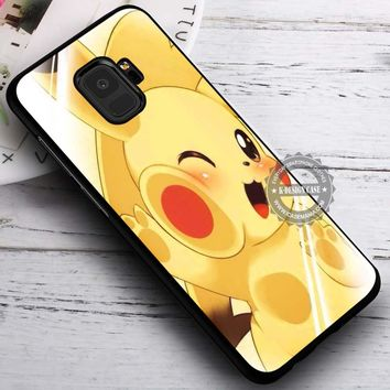 Cuteness Overload Pikachu Pokemon iPhone X 8 7 Plus 6s Cases Samsung Galaxy S9 S8 Plus S7 edge NOTE 8 Covers #SamsungS9 #iphoneX