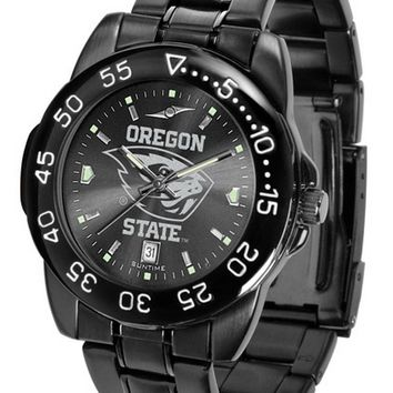 Oregon State Beavers Mens Watch Fantom Gunmetal Finish Orange Dial