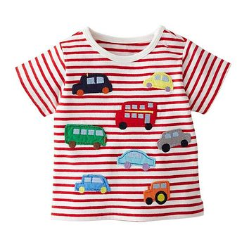 Summer Boys Children's T shirt Baby Clothing Little Shirt Tees Designer Cute Cartoon 1-6Y Tops Clothes