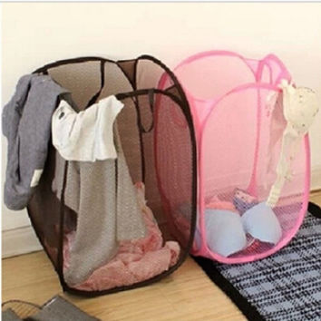 deals] 2015 Big Size Fashion Candy Colors Mesh Fabric nylon Foldable Pop Up Dirty Clothes Basket Bag Bin Hamper Storage for Home = 5988011265