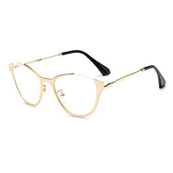 TIJN Cat-eye Metallic Optical Eye Glasses Spectacles 46mm