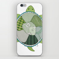 Key Lime Turtle iPhone & iPod Skin by Erin Brie Art