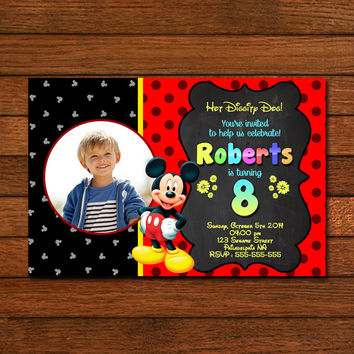 Hot Diggity Mickey Mouse Invitation