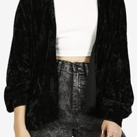 Genie In A Bottle Velvet Cardigan - Black