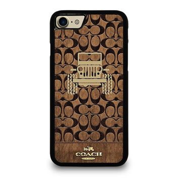 COACH NEW YORK JEEP iPhone 4/4S 5/5S/SE 5C 6/6S 7 8 Plus X Case