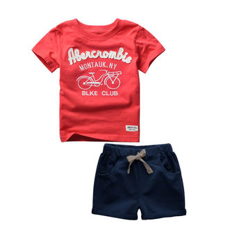 2016 Summer Style Kids Clothes Boys Set T-shirt Shorts Pants 2pc Fashion Children Clothing Cotton Child Suit For Wedding Costume