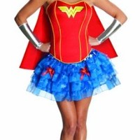 Secret Wishes DC Comics Wonder Woman Corset And Tutu Costume, Blue/Red, X-Small
