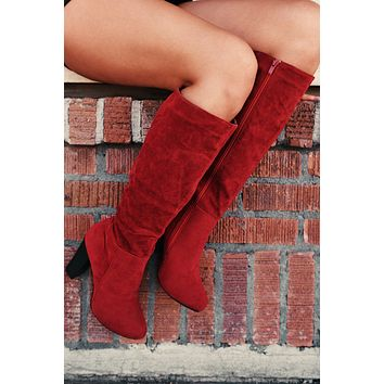 Supreme Knee High Boots (Red)