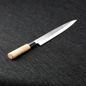 sashimi knife Slicing Salmon with Scabbard stainless steel cleaver kitchen knives One-sided chef knives sushi knife Kitchen