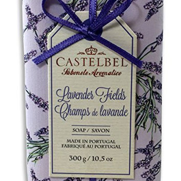 Castelbel Lavender Fields 300 Gram Soap Bar, Set of Two