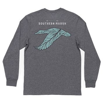 Long Sleeve Delta Duck Tee by Southern Marsh