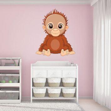 Orangutan Baby Wall Decal