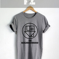 The Neighbourhood Shirt The NBHD Logo Shirt T-shirt Tshirt Tee Shirt Black Grey and White Unisex Size - NK16