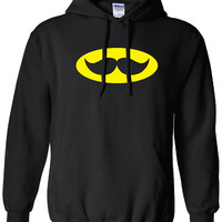 batman bat signal moustache stachman gotham movember Clothing bruce wayne Unisex Style Funny hoodie hooded sweater comic book ML-138