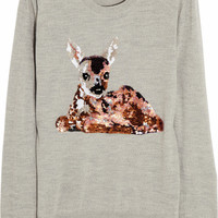 Markus Lupfer | Deer sequined merino wool sweater | NET-A-PORTER.COM
