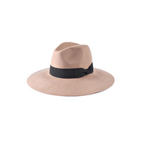 WIDE BRIM BEIGE HAT