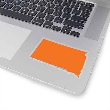 South Dakota State Shape Sticker ORANGE