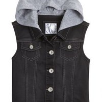 Hooded Denim Vest | Girls Outerwear Clothes | Shop Justice
