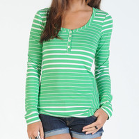 Volcom Between Lines Womens Top Green  In Sizes