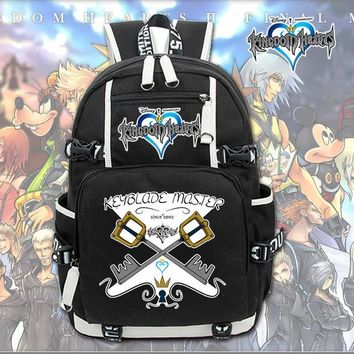 Anime Backpack School kawaii cute Kingdom hearts Sora Cartoon backpacks Girls Boys Kids School Bags Laptop Shoulders Bags Women Men Casual Travel Bag AT_60_4