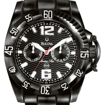 Bulova Men's Black IP Marine Star Watch 98C003