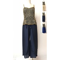 Rayon Plain Palazzos With Waist Belt And Stylish Flap