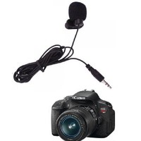 Clip Microphone for Canon Rebel T5i 700D 700 T4i 650D 650 D T5i T4i T3i T2i 700D 650D 600D 550D Quality