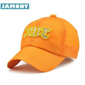 Trendy Winter Jacket [JAMONT] Summer Snapback Kids Baseball Cap Boy Girl Hats Quick Drying Sun Hat Letter Children Caps Ultra Thin Breathable 3-8y AT_92_12