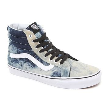 Vans Acid Denim SK8-Hi Reissue Shoes - Mens Shoes - Blue/White