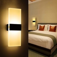 Modern Led Wall Lamp Acryl Bed Room Wall light Living Sitting Room Foyer Bathroom Modern LED Wall Sconce Round Square