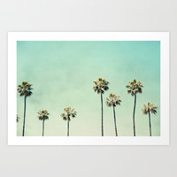 Palm Trees  Art Print by Bree Madden