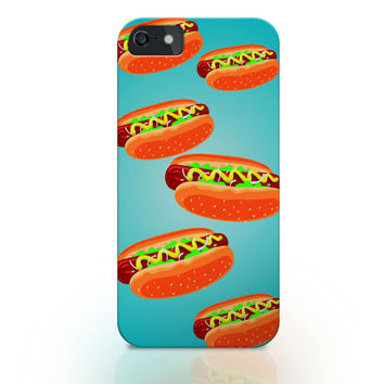 Hot dog iphone case, iphone 6 case, iphone 6 plus case, food iphone case, man iphone case, food pattern iphone case 5s , iphone 4s case