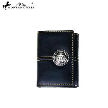 Genuine Tooled Leather Collection Men's Wallet
