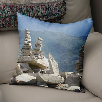 Rock Cairn Decorative Throw Pillow Cover- 5 Sizes