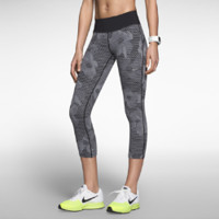Nike Epic Lux Printed Women's Running Crops - Cool Grey