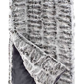 Frosted Grey Mink Couture Faux Fur Throw Blanket by Fabulous Furs