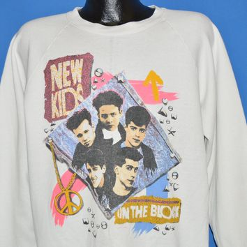 80s New Kids On The Block Peace Sweatshirt Extra Large