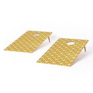 Heather Dutton Diamante Gold Cornhole Set