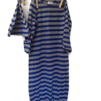 Baby Gown for Baby Boy or Take Home Outfit with stripes