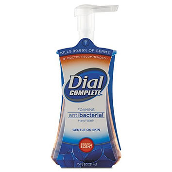 Dial Professional 02936CT Antimicrobial Foaming Hand Soap, Original Scent, 7.5 oz. Pump Bottle, Light Pink (Pack of 8)