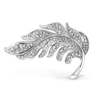 Bling Jewelry Shimmer Leaf Pin