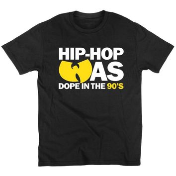 Hip Hop Was Dope 90's WuTang Clan T Shirt Classic Rap Supreme RZA GZA ODB GHOST Cotton